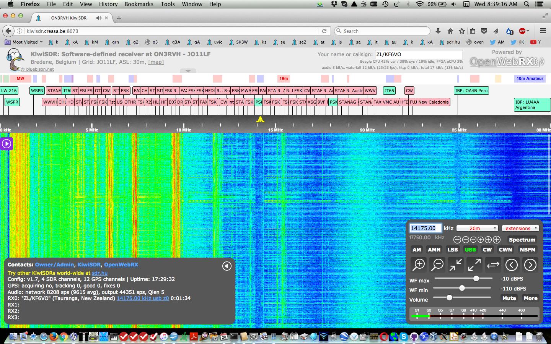 KiwiSDR Operating Information